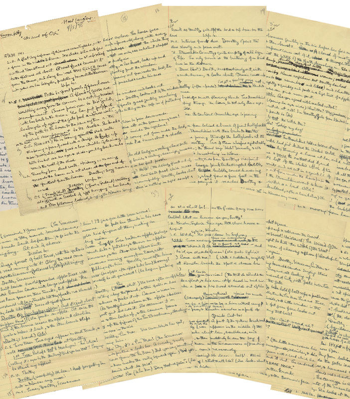 © Reuters. Profiles in History image of the original handwritten first draft script for the beloved film