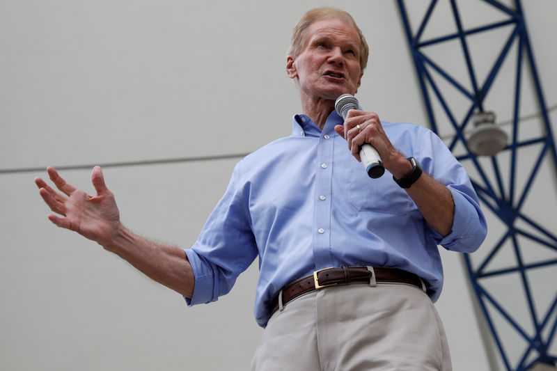 © Reuters. Senator Bill Nelson (D-FL) speaks in West Palm Beach, Florida