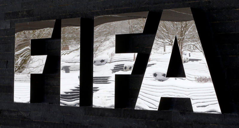 © Reuters. FILE PHOTO: The FIFA headquarters in Zurich, Switzerland, January 10, 2017