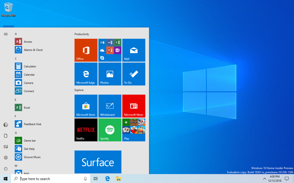 Microsoft releases new Windows 10 preview with Start