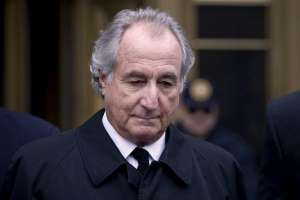 Bernard Madoff wearing a suit and tie