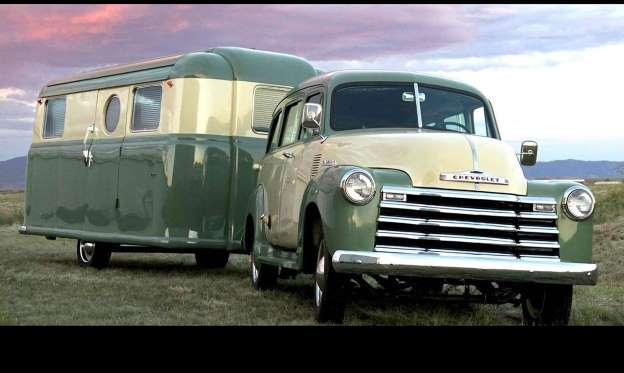 1952 Chevrolet Suburban and RV