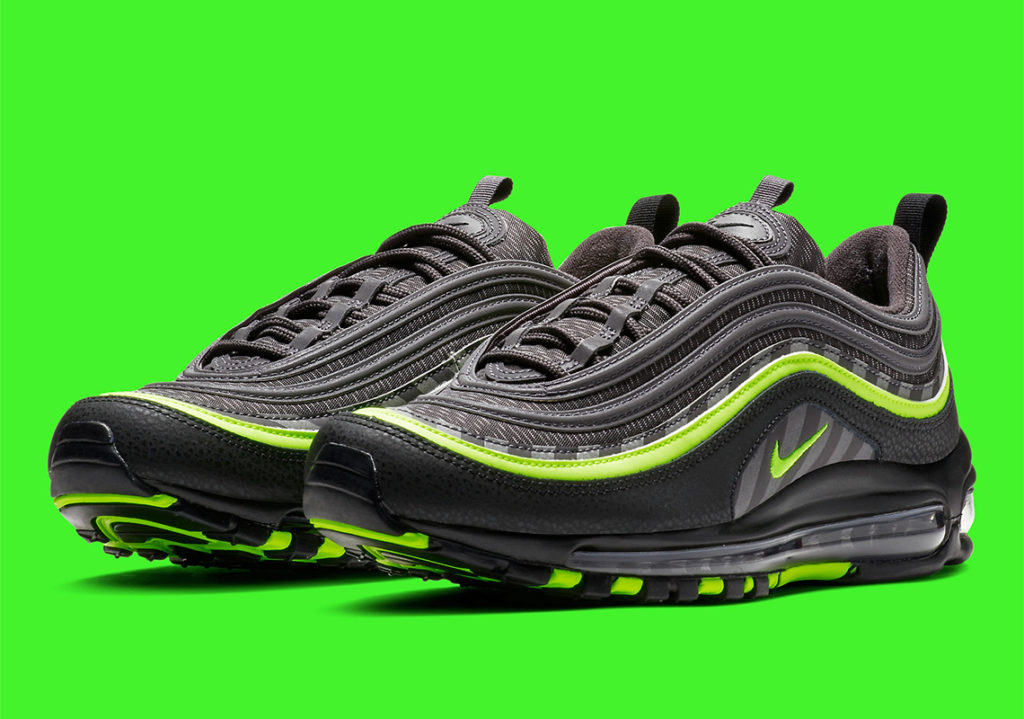 "9de2f91720 Looking Good in Green: Nike Air Max 97 ""Thunder Grey/Lime Blast"" 