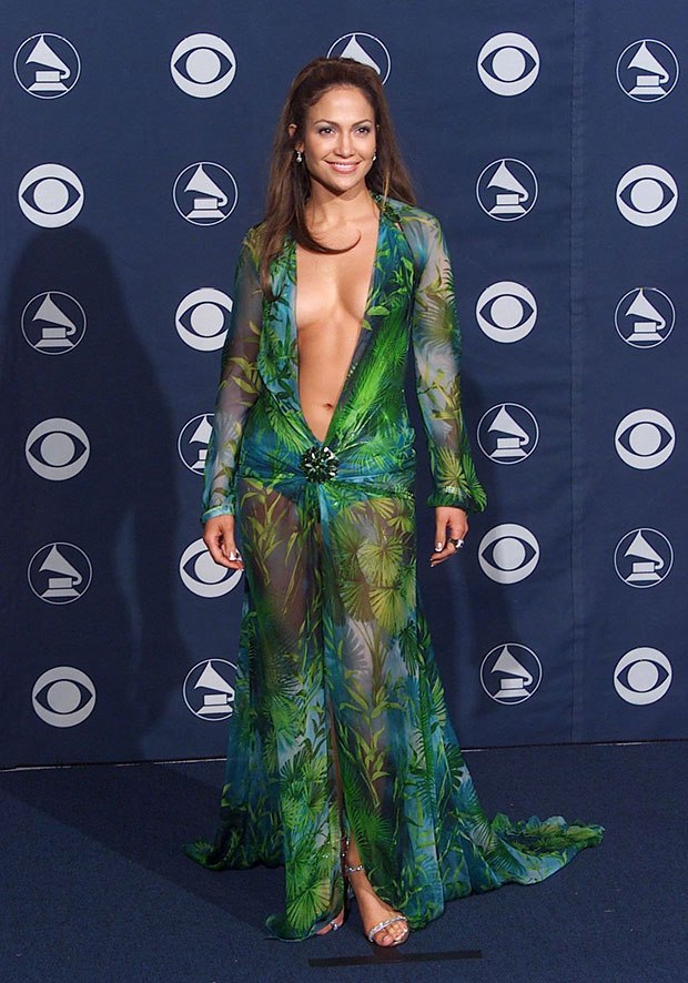 83a56eab61d 28 Sexiest Grammys Dresses Of All-Time: J.Lo, Miley Cyrus & More   e ...
