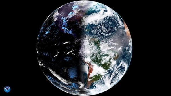 Stunning satellite photo shows what the vernal equinox looked like