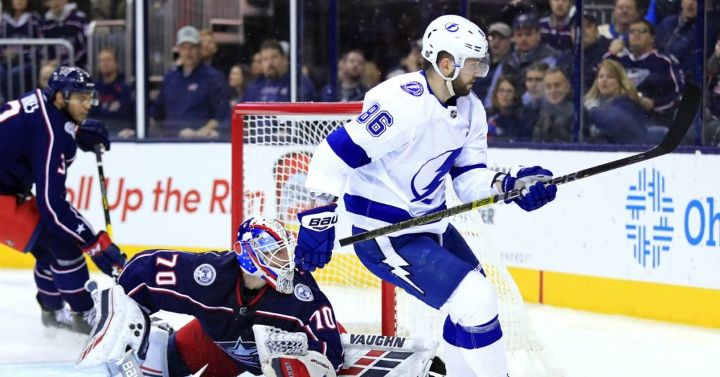 cheap for discount d48ad 323eb Columbus Blue Jackets versus Tampa Bay Lightning 2019 ...