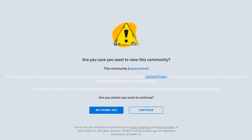 Reddit Quarantined r/The_Donald for 'Threats of Violence