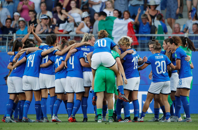 © Reuters. Women's World Cup - Round of 16 - Italy v China