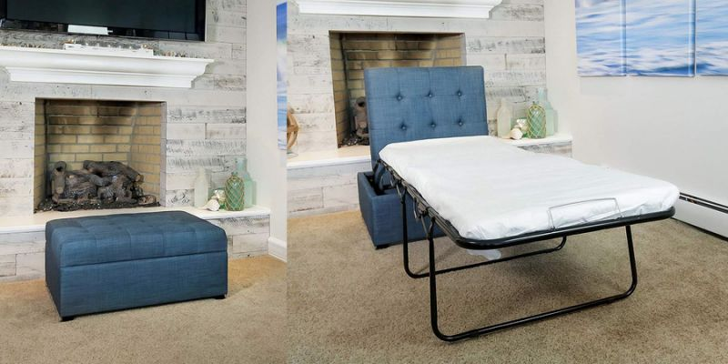 Superb This Ottoman Pulls Out Into A Bed And Its The Best 200 Pdpeps Interior Chair Design Pdpepsorg