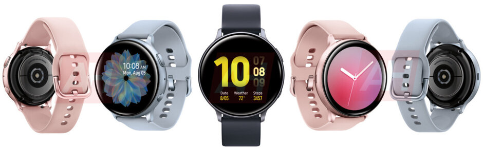 Leaked images show the Samsung Galaxy Watch Active 2 from