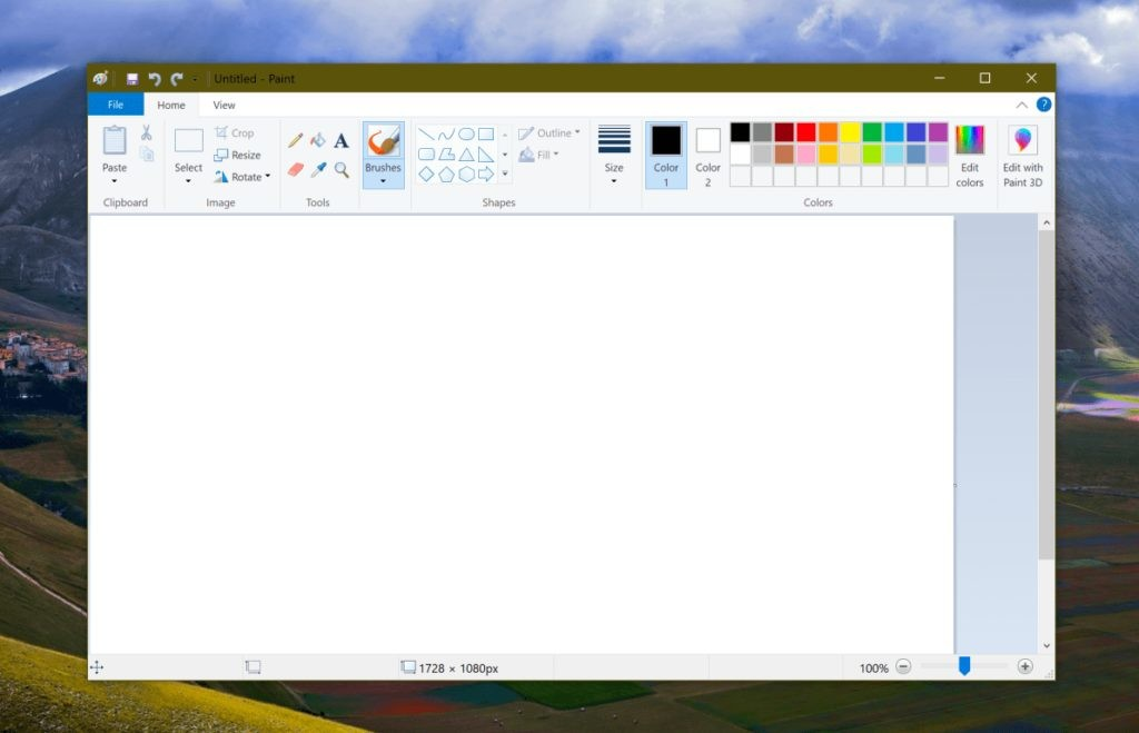 Paint and WordPad both appear as removable optional features