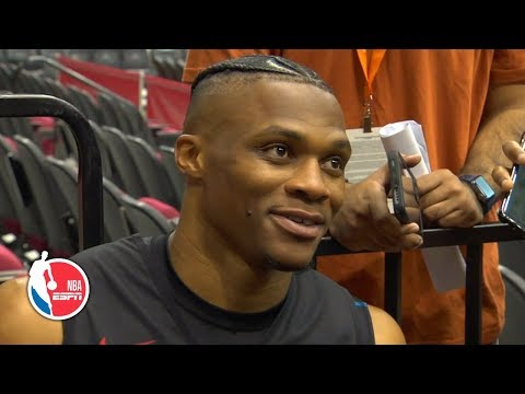 Russell Westbrook discusses first Houston Rockets practice