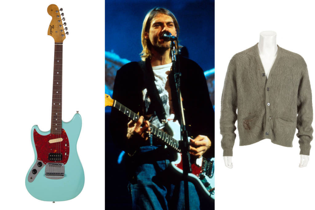 Kurt Cobain's 'Unplugged' sweater, guitar head to auction