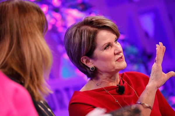 Lockheed Martin CEO Marillyn Hewson says there's a desire in the Middle East for the F-35 fighter jet. (Paul Morigi/Getty Images for Fortune)