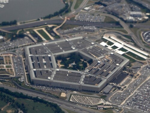 In this June 3, 2011, file photo, the Pentagon is seen from air from Air Force One. (Charles Dharapak/AP)