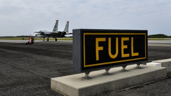 An F-15C Eagle taxis for takeoff during Exercise WestPac Rumrunner at Marine Corps Air Station Futenma, Japan, on Jan. 10, 2020. (Staff Sgt. Benjamin Raughton/U.S. Air Force)